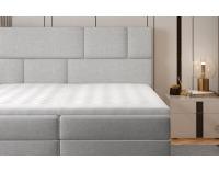 Čalúnená manželská posteľ s úložným priestorom Ferine 145 - žltá