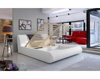 Čalúnená manželská posteľ s roštom Folino 140 - svetlosivá / tmavosivá