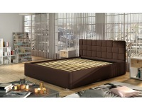Čalúnená manželská posteľ s roštom Galimo 140 - čierna