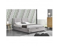 Čalúnená manželská posteľ s roštom Gulia 180 180x200 cm - sivá