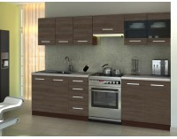 Kuchyňa Amanda 1 260 - wenge / akácia škoricová