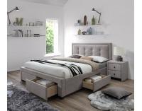 Čalúnená manželská posteľ s roštom Evora 160 - béžová