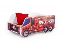 Detská posteľ s roštom a matracom Fire - kombinácia farieb