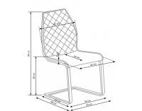 Jedálenská stolička K265 - hnedá / dub zlatý