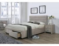 Čalúnená manželská posteľ s roštom Kayleon 160 - béžová