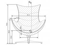 Dizajnové otočné kreslo Luxor - biela