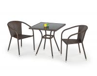 Záhradný stolík Mobil - tmavohnedá / čierna