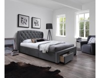 Čalúnená manželská posteľ s roštom Sabrina 160 - sivá