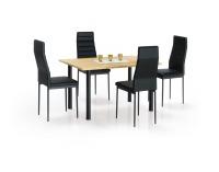 Jedálenský stôl Adonis 2 - dub zlatý / čierna