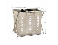 Kôš na prádlo Laundry Typ 3 - sivobéžová