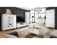 Obývacia izba Legg - biela / dub monument