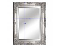 Zrkadlo na stenu Malkia Typ 6 - strieborná