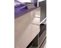 Obývacia stena Cube CU-1 - sand grey / tmavosivá
