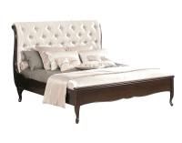 Rustikálna manželská posteľ Wersal W-S/S 160 - wenge / biela (Prestige-A3 69)