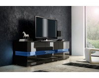TV stolík Inter - čierna / čierny lesk