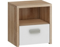 Nočný stolík Kitty KIT-12 - sonoma svetlá / biela