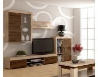 Obývacia stena Mamba - sonoma svetlá / sonoma tmavá