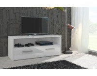 TV stolík Tirana - biela / biely vysoký lesk