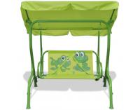 Detská záhradná hojdačka Frog - zelená