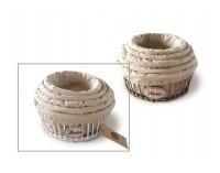 Prútené košíky (5 ks) Shabby 8 - biela