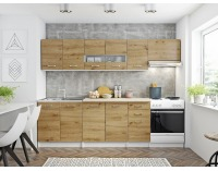 Kuchyňa Pescara 260 - biela / dub artisan