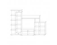 Obývacia stena Pierino LR - dub craft sivý / biela