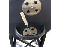 Záhradný gril MIR-418 - čierna