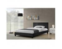 Čalúnená manželská posteľ s roštom Nadira 160 - čierna
