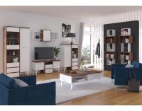 Obývacia izba Nordis - craft tobaco / biela
