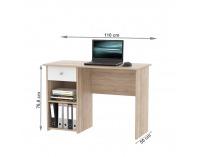 PC stôl Karlis - dub sonoma / biela