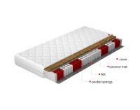 Taštičkový matrac Pisa 200 200x200 cm