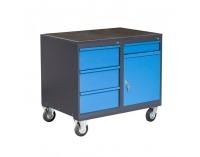 Dielenský vozík na kolieskach so zámkom PLW01G/P8P2 - grafit / modrá