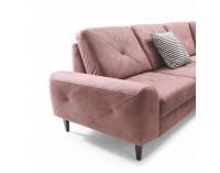 Rohová sedačka s rozkladom a úložným priestorom Praga P - púdrová ružová
