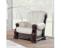 Kožená sedacia súprava Cezar III - wenge / biela (Madras white)