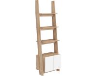 Obývacia izba Rack - sonoma svetlá / biely lesk