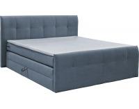 Čalúnená manželská posteľ s matracmi Milano 180 - grafit (megacomfort)