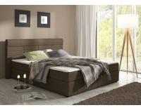 Čalúnená manželská posteľ s matracmi Torino 180 - hnedá (megacomfort)