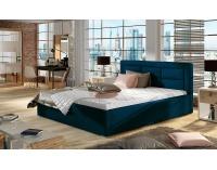 Čalúnená manželská posteľ s roštom Rovigo 140 - tmavomodrá