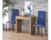 Rozkladací jedálenský stôl Samson - orech medový / čierna