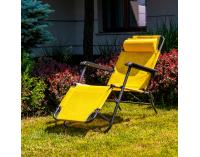 Záhradné lehátko Senator - žltá