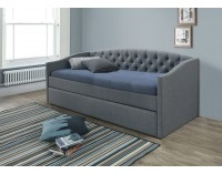 Čalúnená rozkladacia posteľ s prísteľkou Alessia 90 - sivá