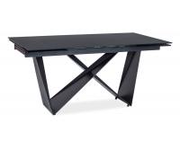 Rozkladací jedálenský stôl Cavalli I - čierna matná