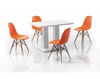 Jedálenská stolička Enzo - buk / biela