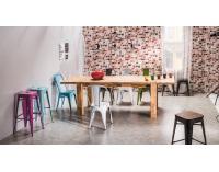 Jedálenská stolička Loft - modrý kov