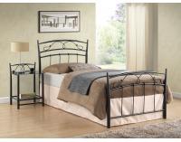 Kovová jednolôžková posteľ s roštom Siena 90 - čierna