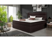 Čalúnená manželská posteľ s úložným priestorom Spezia 160 - tmavohnedá