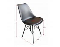 Jedálenská stolička Tamora - čierna