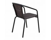 Záhradná stolička Varda - tmavohnedá / čierna