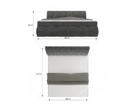 Čalúnená manželská posteľ s úložným priestorom Vareso 160 - čierna (Sawana 14)