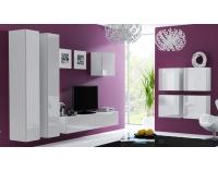 Obývacia izba Vigo - biela / biely lesk